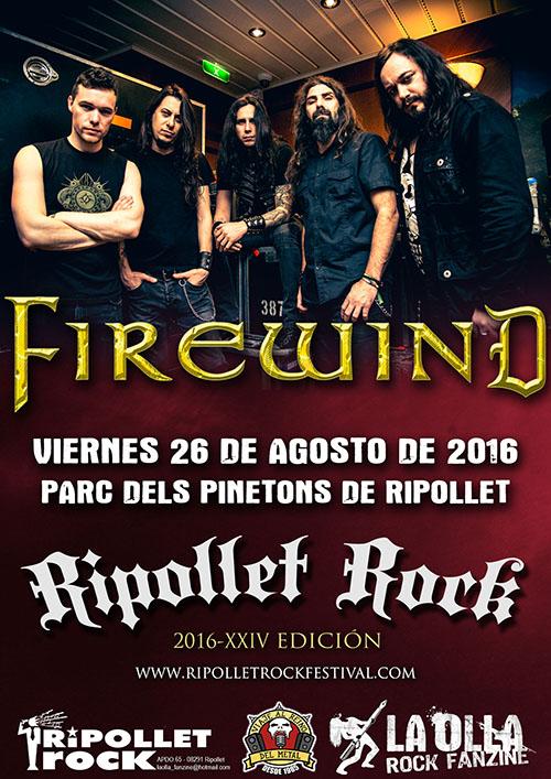 Firewind al Ripollet Rock Festival