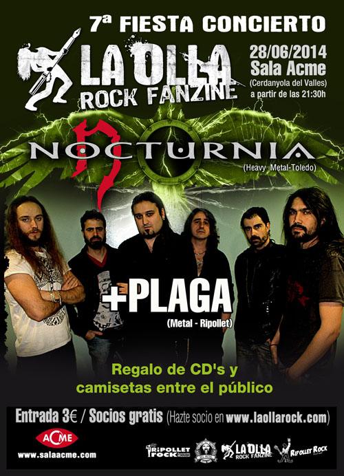 7ª Fiesta Concierto La Olla Rock Fanzine: Nocturnia + Ron de Kaña