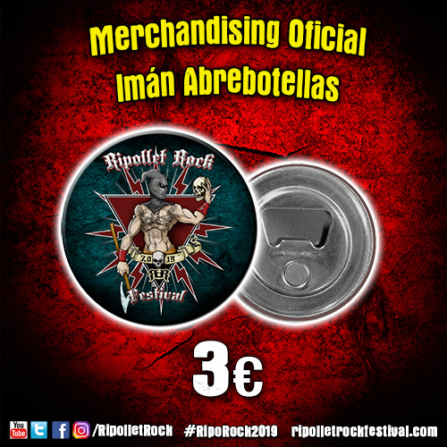 Imán Abrebotellas Ripollet Rock Festival 2019